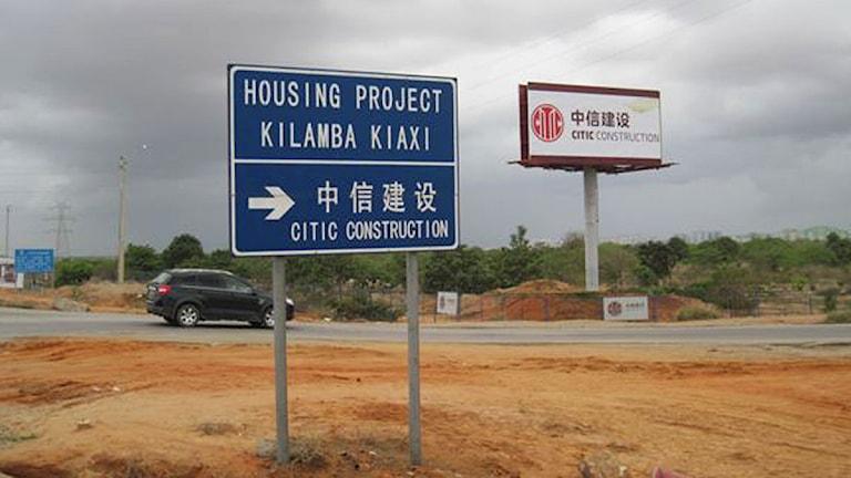 Kinesiska byggare gör en helt ny stad utanför Luanda. Foto: Maria Sjöqvist/Sveriges Radio.