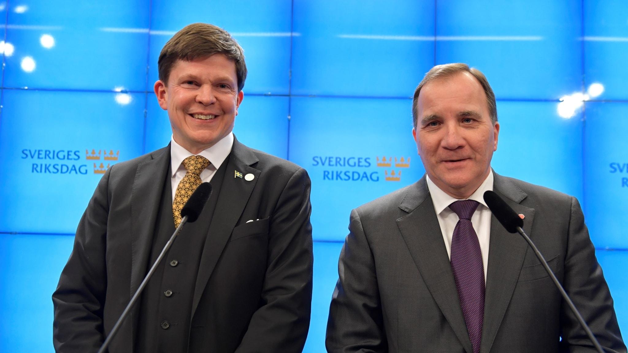 Andreas Norlén och Stefan Löfven.