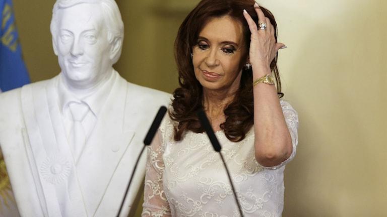Cristina Kirchner efter en dom mot henne i december 2017.