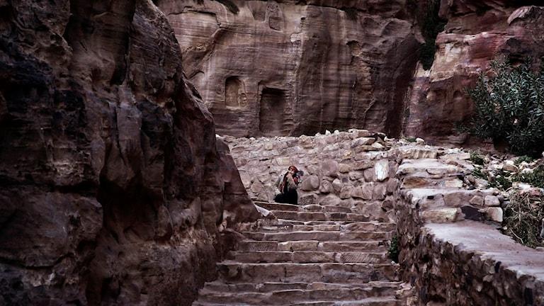 Turistattraktionen Petra hålls stäng i dag (arkivbild). Foto: Nariman El-Mofty/TT.