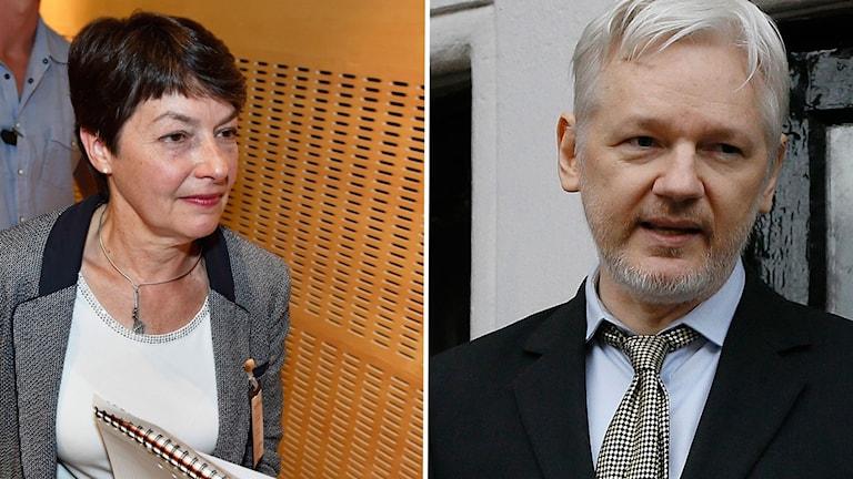 Marianne Ny och Julian Assange