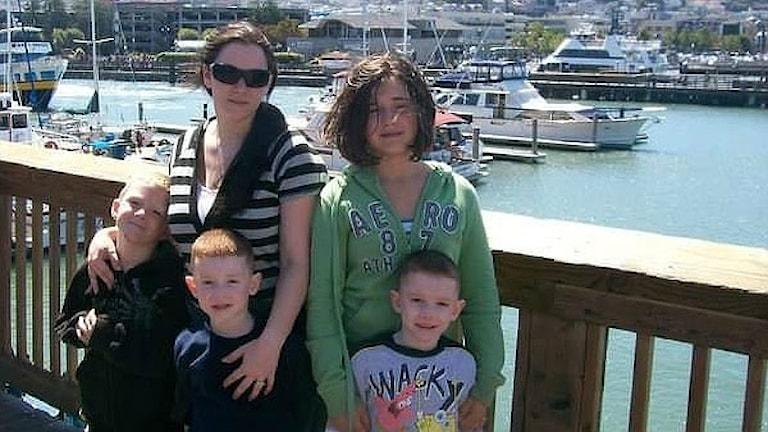 Någon okänd person hade stulit Anndorie Ashbys uppgifter och fött barn i hennes namn.