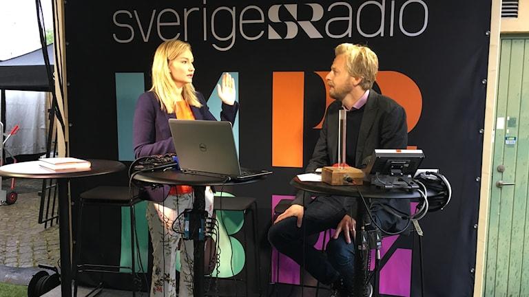 Kristdemokraternas ledare Ebba Busch Thor i P1-morgon.