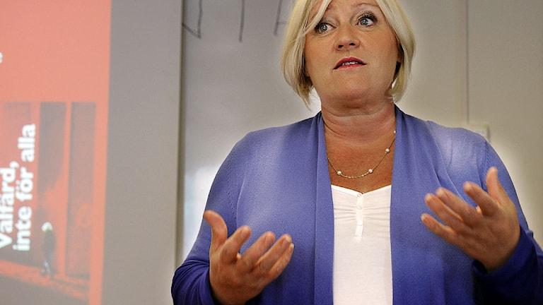 Generalsekreterare Elisabeth Dahlin på Rädda Barnen.