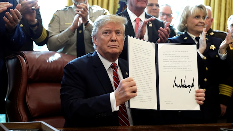 Det är första gången som han använder veto-rätten.