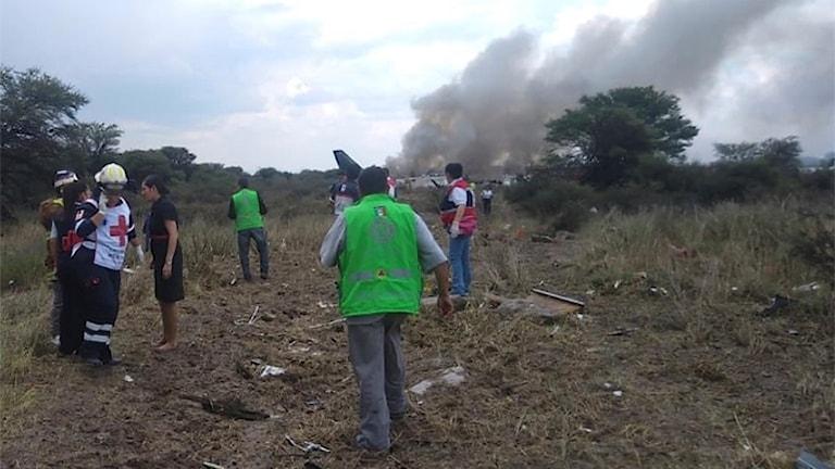 Bild från olyckaplatsen.