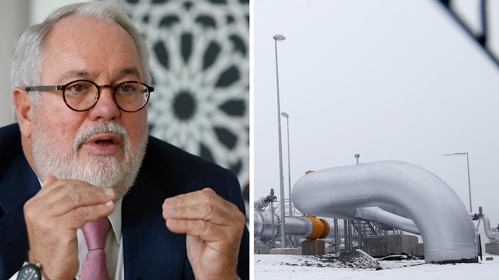 EU:s energi- och klimat- kommissionär Miguel Arias Cañete skulle stoppa Nord Stream 2.