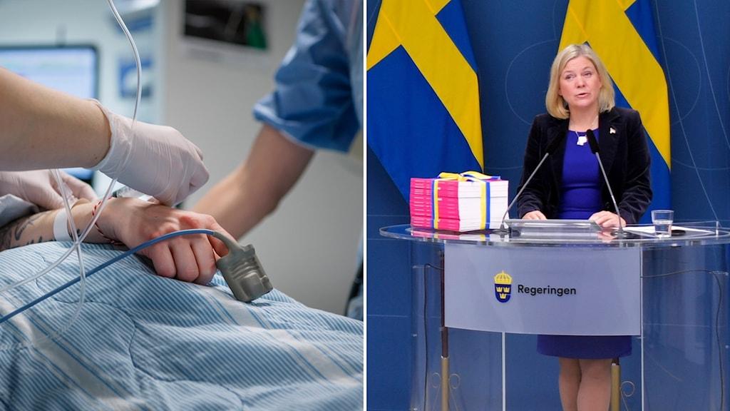 Sjukvård och finansminister Magdalena Andersson.