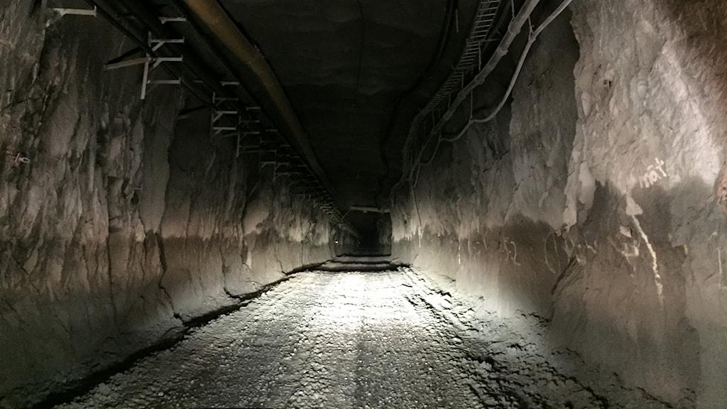 Väg i Kankberggruva