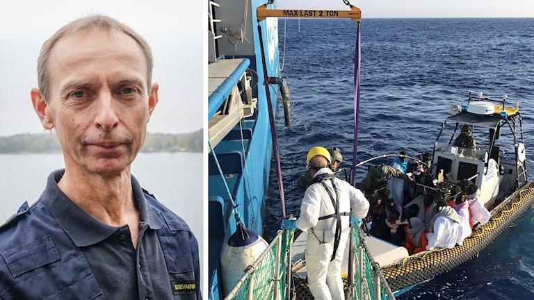 Arkivbild: Migranter tas ombord på Kustbevakningens fartyg KBV 002.