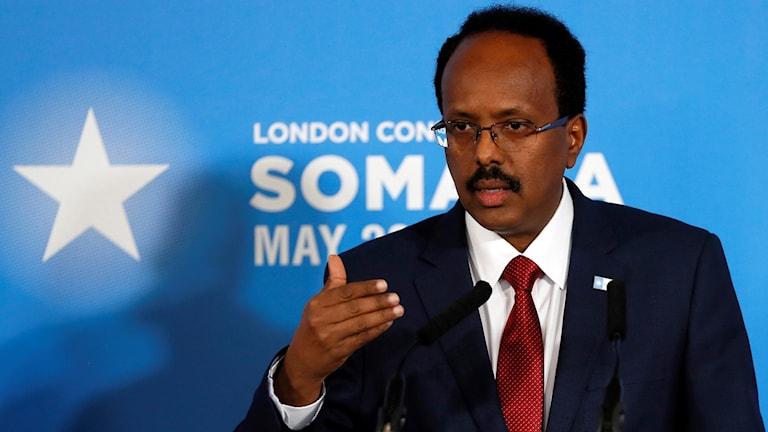Somalias president  Mohamed Abdullahi Mohamed.