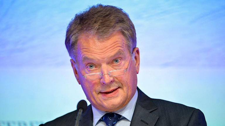 Finlands president Sauli Niinistö . Foto:
