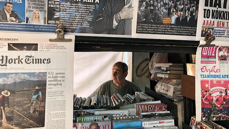 Tidningskiosk.