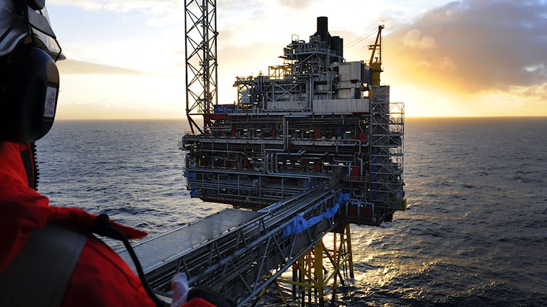 Oljeplattform i norska Nordsjön.