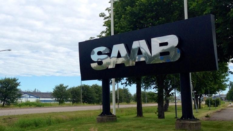Vid infarten till Saab-området på Stallbacka i Trollhättan.