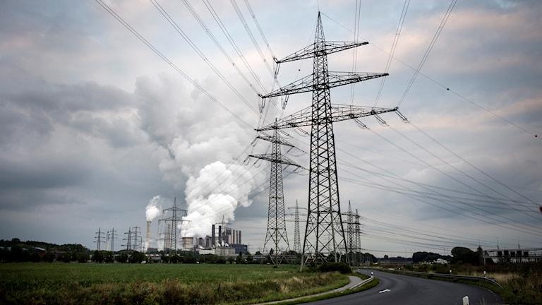 Ett brunkolskraftverk i Tyskland.