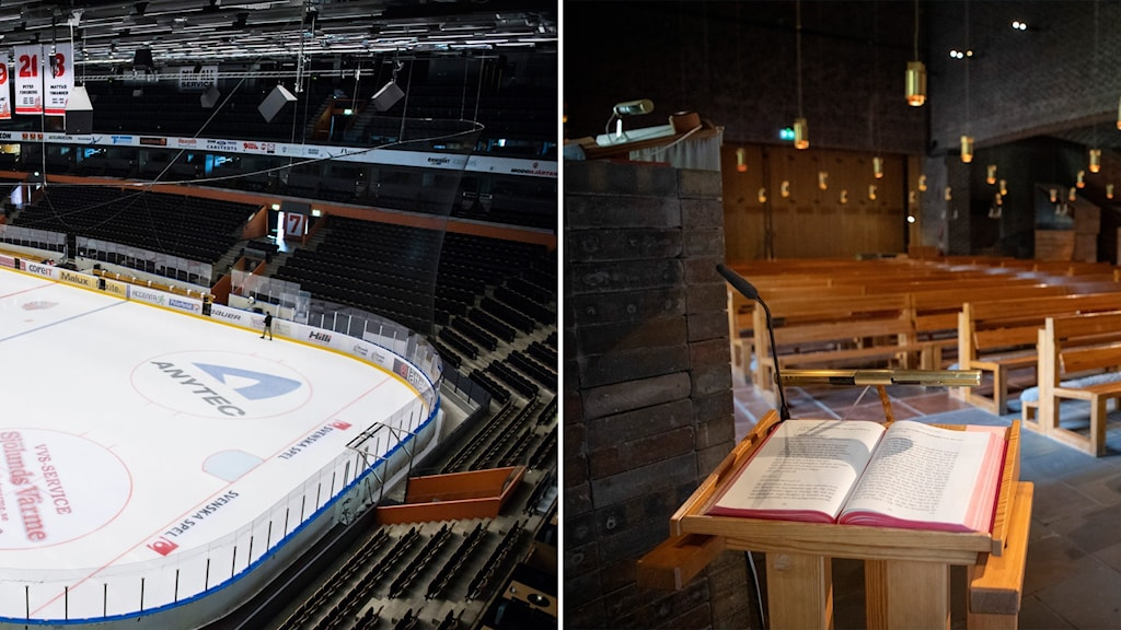 Fjällräven Center, hemaarena för Modo Hockey/  Markuskyrkan i Björkhagen