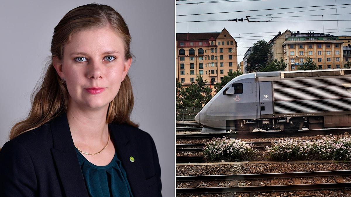 Emma Berginger trafikpolitisk talesperson för Miljöpartiet.