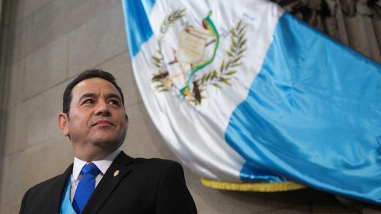 Guatemalas president Jimmy Morales.