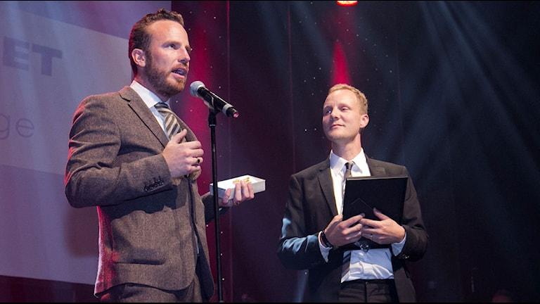 Daniel Öhman och Bo Göran Bodin. Foto: Foto: Micke Grönberg/Sveriges Radio