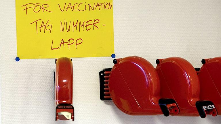 Kölappar på vårdcentral. Foto: Gunnar Lundmark/Scanpix.