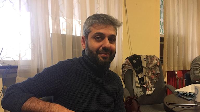 Mamikon Hovsepyan i Armeniens HBTQgrupp Pink.
