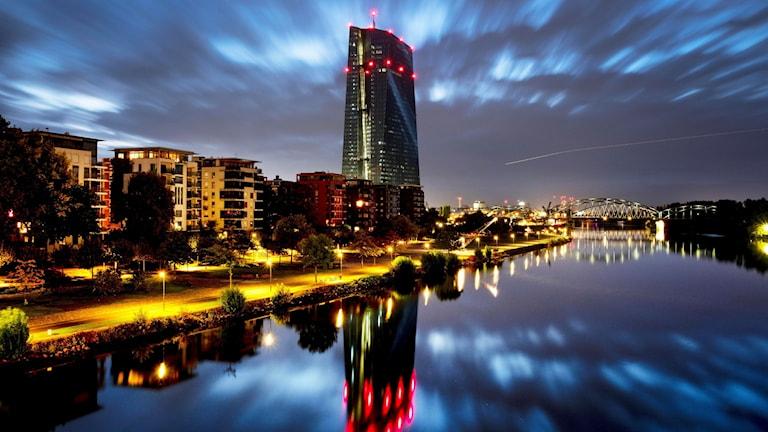 Europeiska centralbanken i Frankfurt.