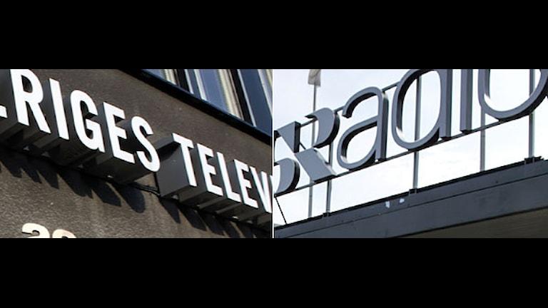 Sveriges Televion och Sverige Radio.