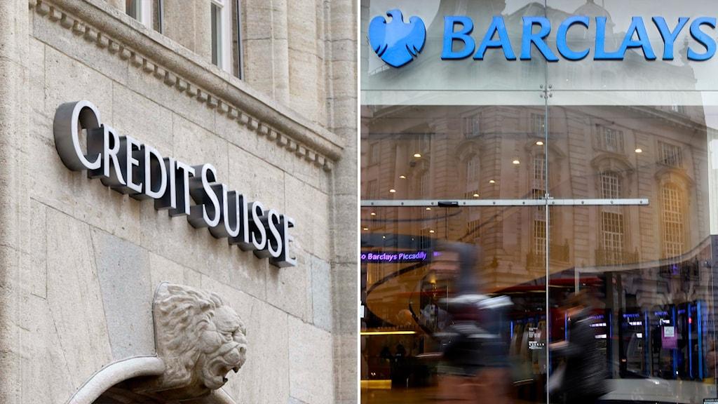 Credit suisse och Barclays