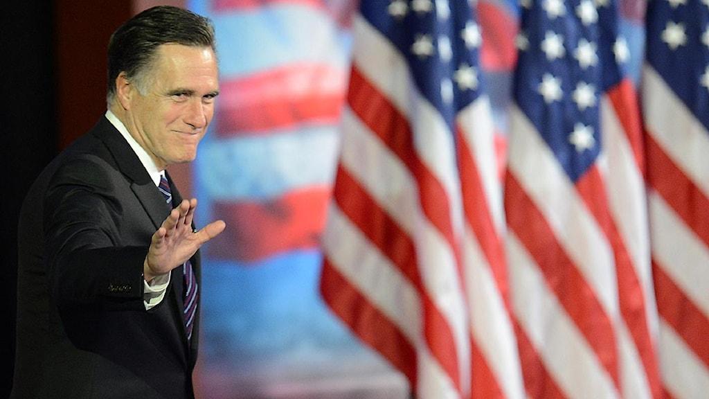 Mitt Romney erkänner sig besegrad. Foto: Don Emmert/Scanpix.