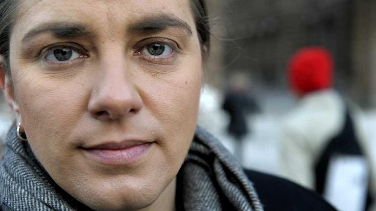 Anna Troberg, partiledare för Piratpartiet. Foto: Janerik Henriksson/Scanpix
