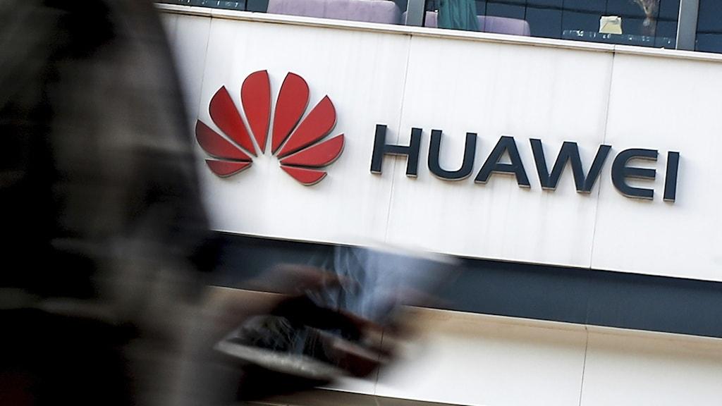 Bild på Huaweis logotyp.
