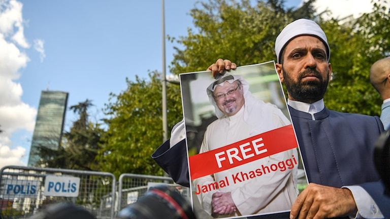 Khashoggi protester