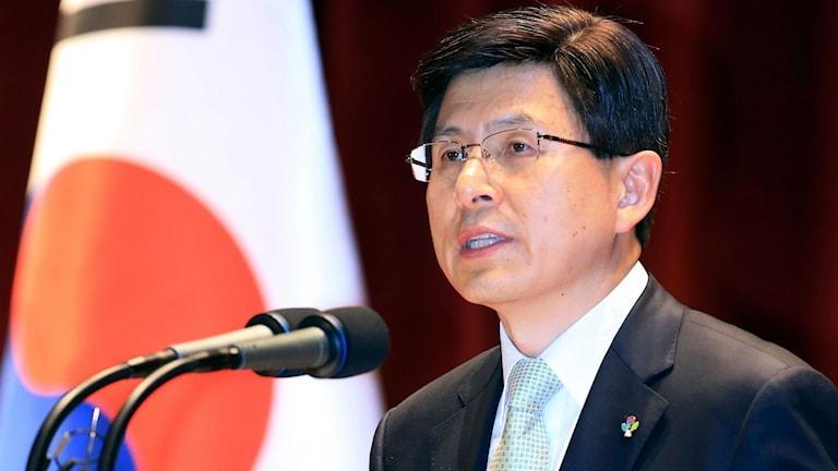 Tidigare premiärministern Hwang Kyo-ahn.