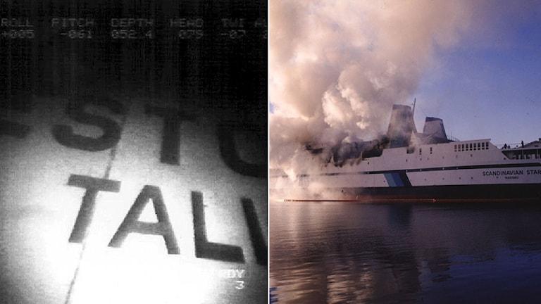 Estonia förliste 1994 och Scandinavian Star brann 1990, med hundratals dödsoffer som följd. Foto: Scanpix.