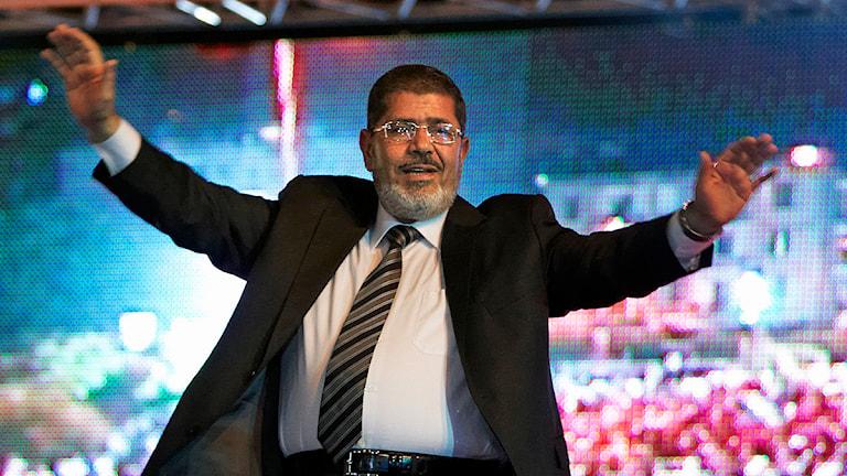 Egyptens president Mohammed Mursi. Foto: Fredrik Persson/Scanpix.
