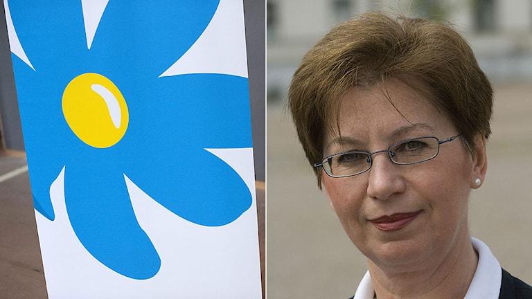 Optikern Anna Hagwall som tidigare var partiets andra vice ordförande ska ersätta SD:s Erik Almqvist när han formellt lämnar riksdagen. Foto: Scanpix/Montage Sveriges Radio.