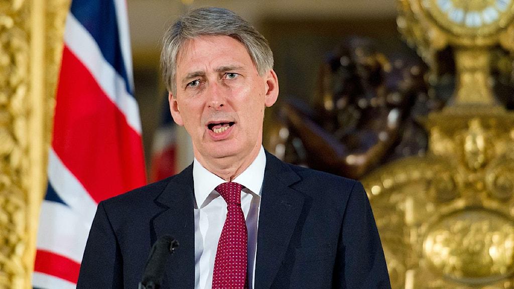 Storbritanniens försvarsminister Philip Hammond sa på lördagen att hela skulden för att gisslan dödats i ALgeriet ligger på terroristerna. Foto: Leon Neal/Scanpix.