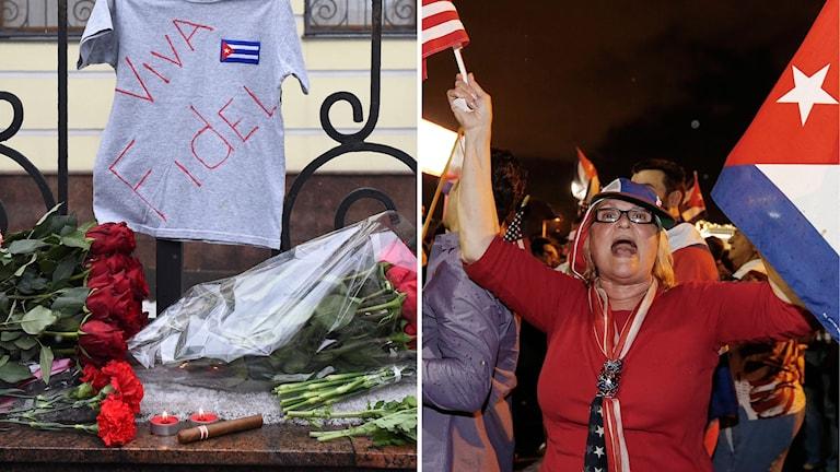 Jubel och sorg efter Fidel Castros död