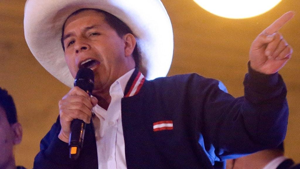 Perus nya president Pedro Castillo.