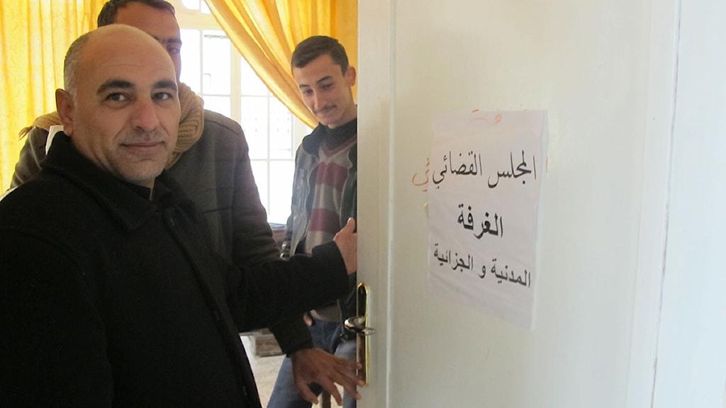 Advokaten Jameel Othman är en av domarna i Azaz nybildade råd. Foto: Katja Magnusson/Sveriges Radio.