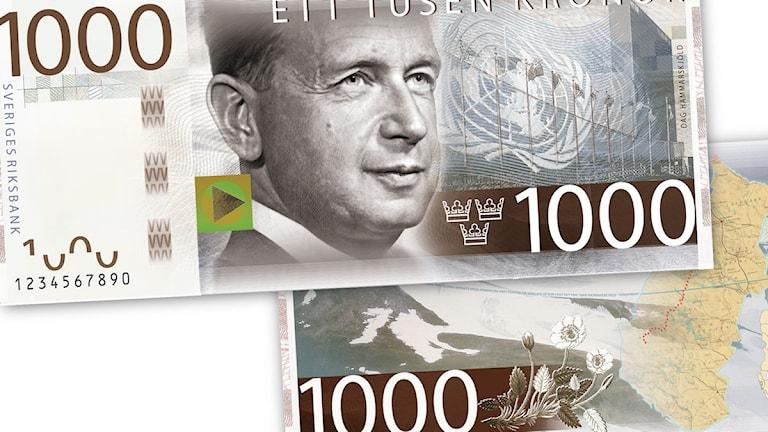 Bild på den nya tusenlappen som lanseras i oktober. Foto: Riksbanken.