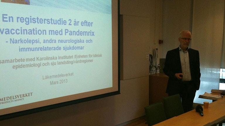 Ingemar Persson, professor och huvudansvarig för studien på Läkemedelsverket. Foto: Simon Andrén/Sveriges Radio.
