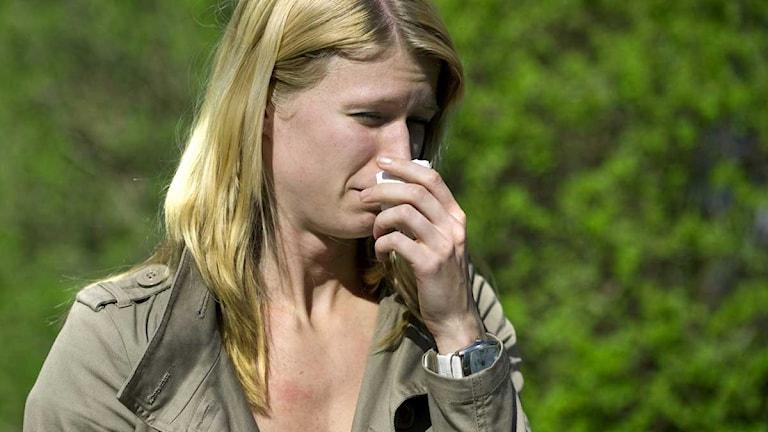Kvinna med pollenallergi. Foto: Claudio Bresciani/Scanpix.