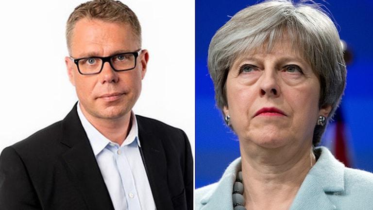 Jan Andersson och Theresa May.