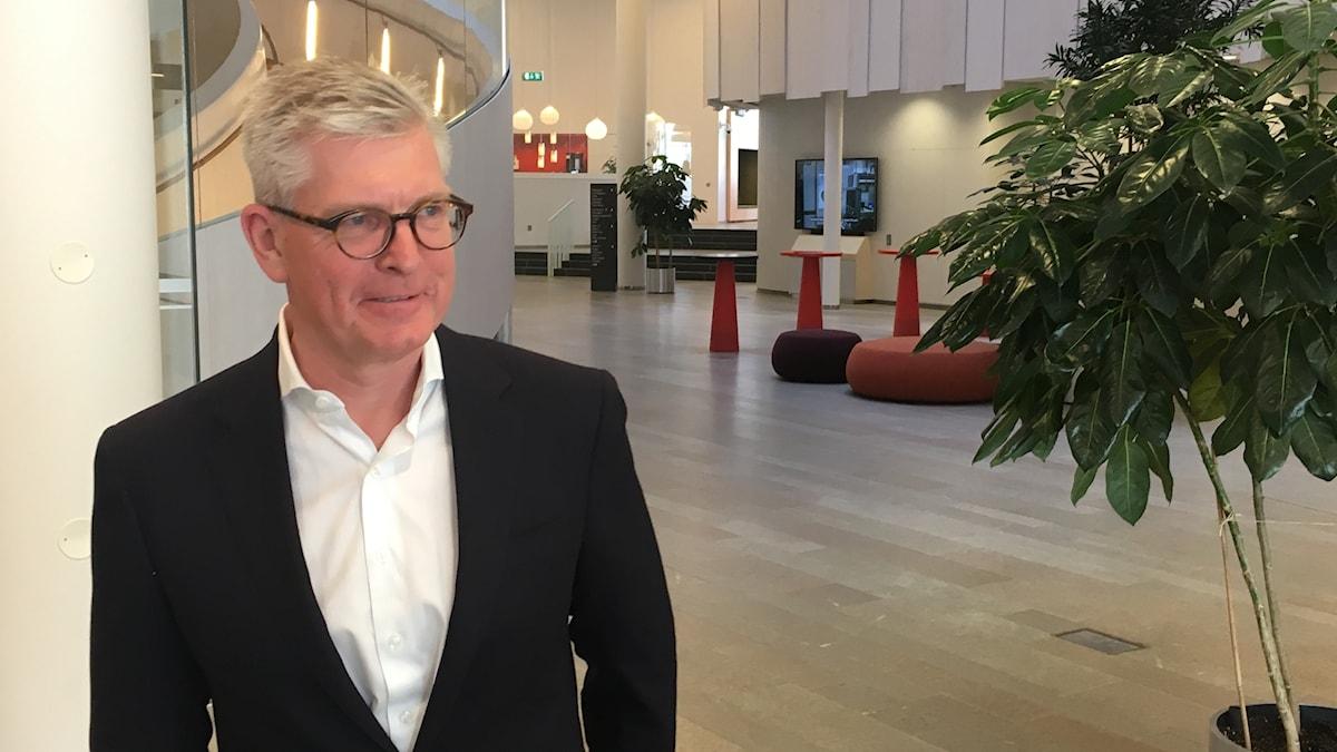 Ericssons vd Börje Ekholm presenterade en stark kvartalsrapport. Foto: Anders Jelmin/Sveriges Radio
