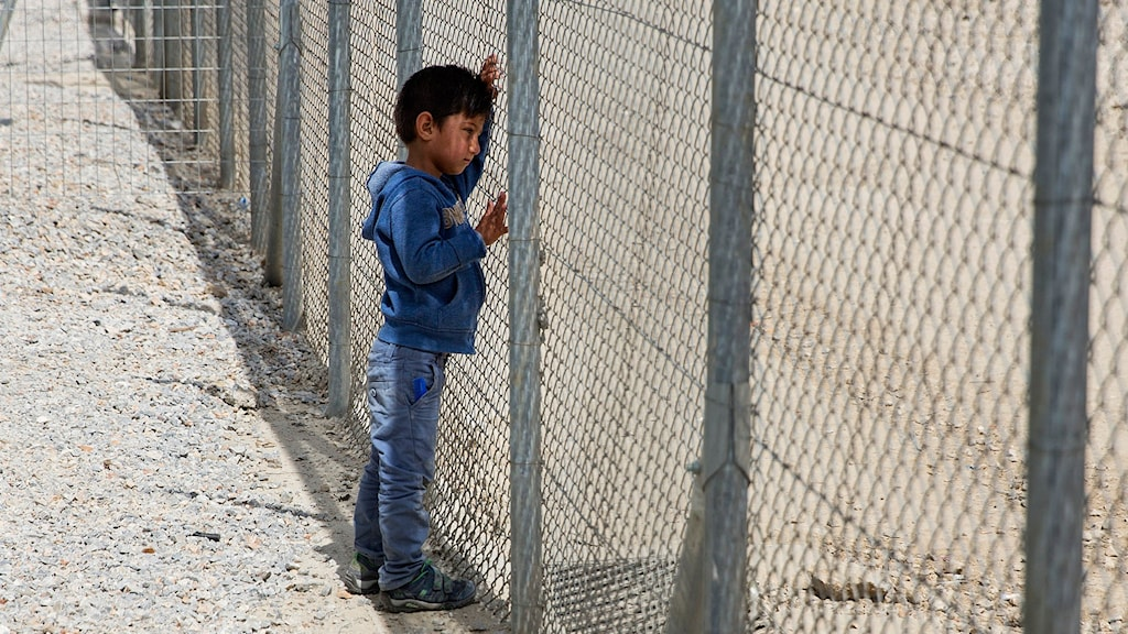 Flytingläger på Lesbos.