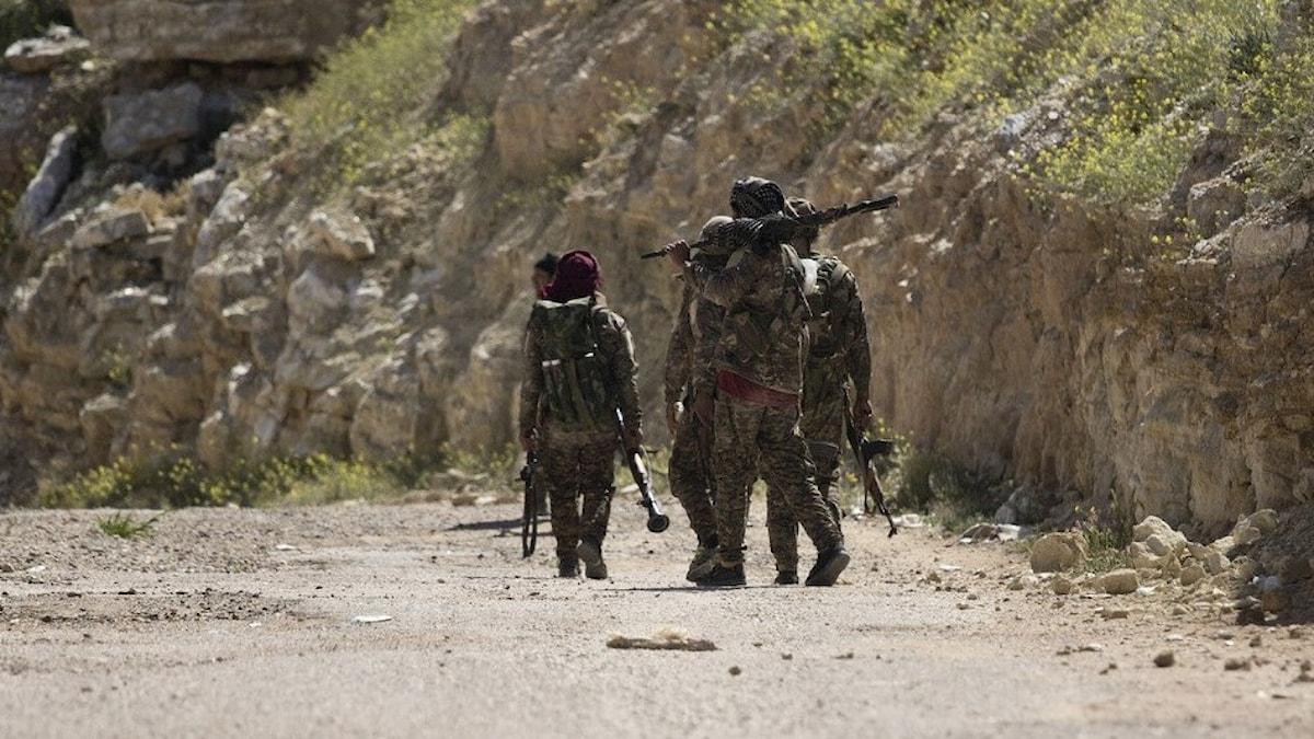 Soldater i Syrien.
