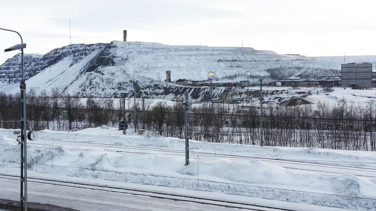 LKAB:s Kirunagruva. Foto: Nils Eklund/Sveriges Radio.