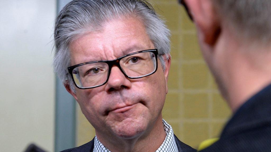 Moderaternas försvarspolitiska talesperson Hans Wallmark.